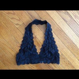 Navy blue lace bandeau 😍
